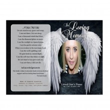 angel funeral program template