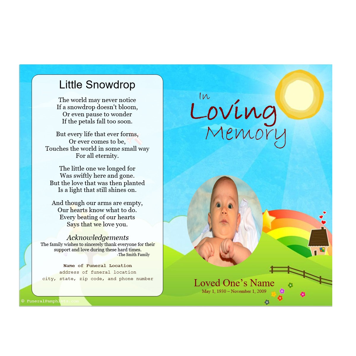 Funeral Program For Boy  Free Funeral Programs Downloads