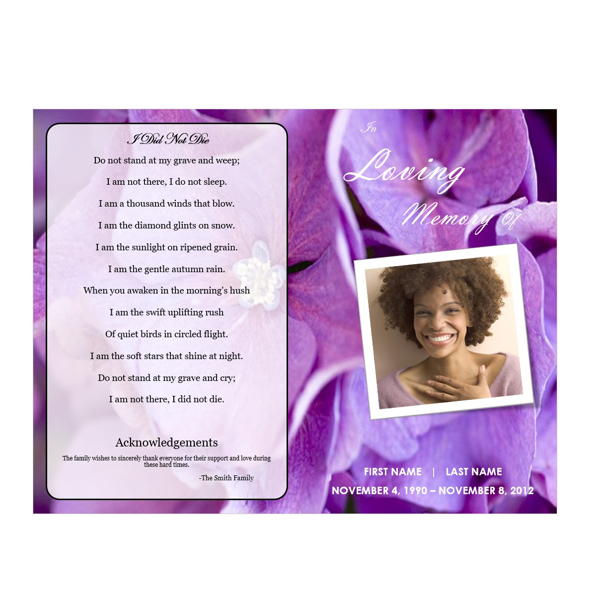 free funeral program template download 2010 - floral 1 funeral pamphlets