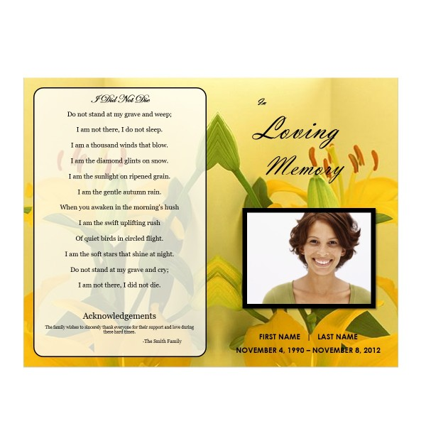 Funeral programs download