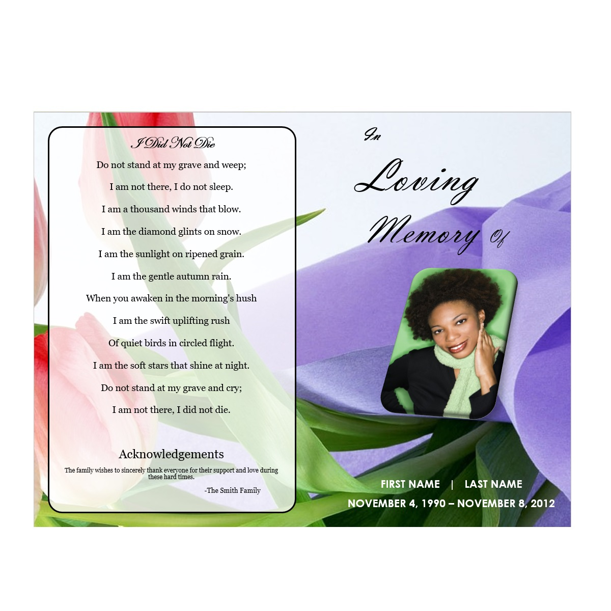 microsoft office funeral program template