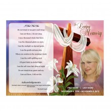 easter lilies funeral program