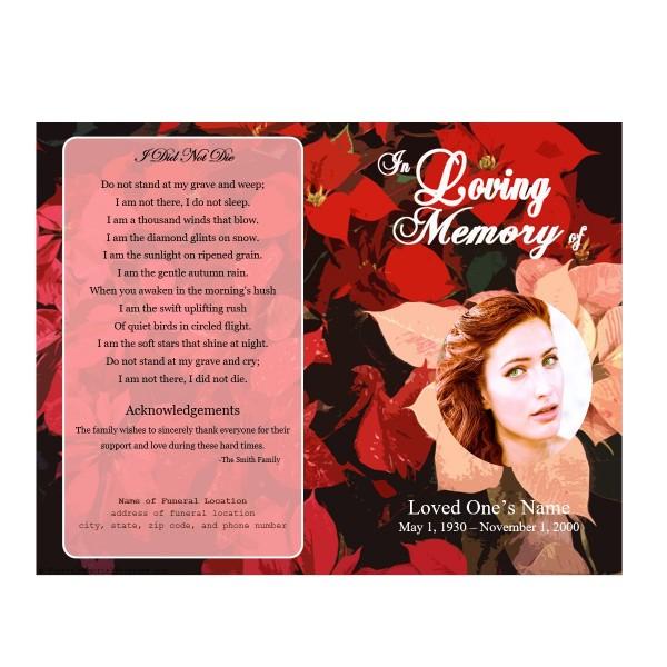 floral memorial program