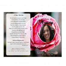 Rose Funeral Programs