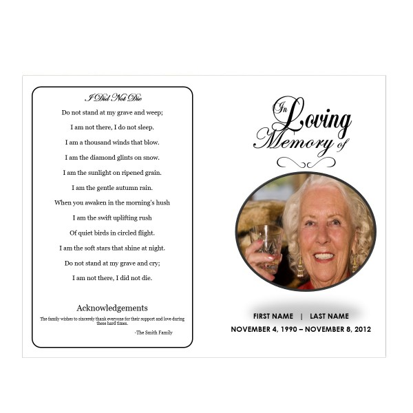 traditional funeral template for microsoft word