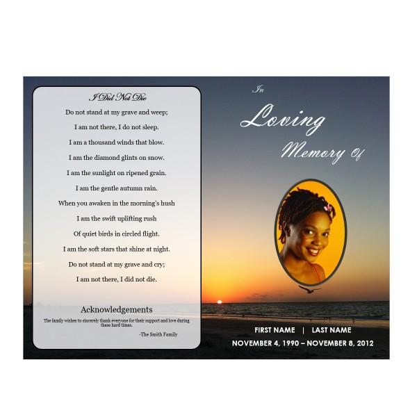 Printable Obituary Template Word