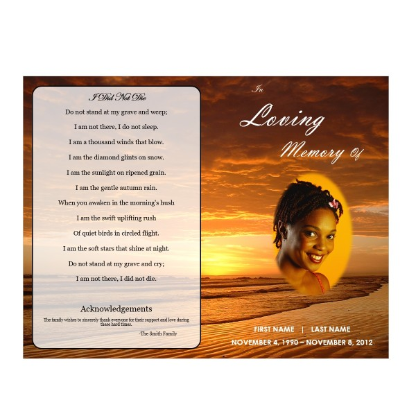 printable order of service obituary card