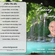waterfall funeral template for microsoft word