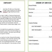 waterfall funeral card template