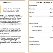 beach theme funeral pamphlet