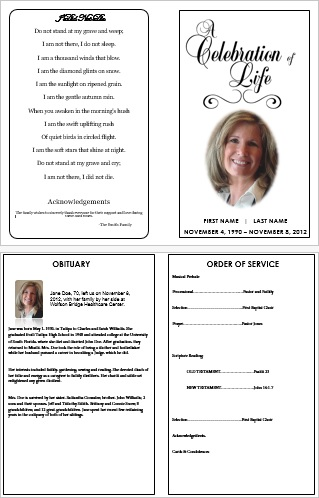 Funeral Program Template For Word  How To Make A Funeral Program In Word