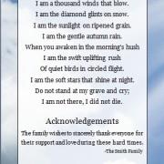 funeral program poem