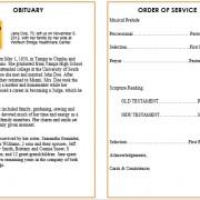sunset obituary template