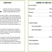 water fall memorial service template for microsoft word