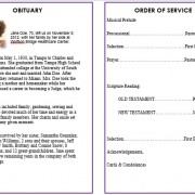 african american funeral template