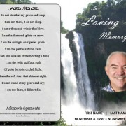 waterfall obituary program template
