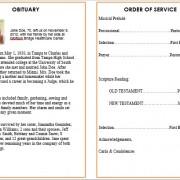 ocean obituary program template