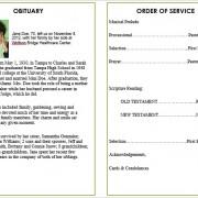 obituary template word