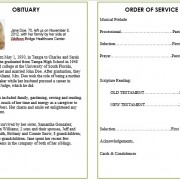obituary design
