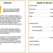 memorial service template for microsoft word
