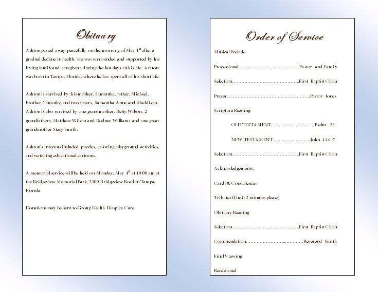 free funeral mass program template