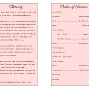 Floral Obituary Template