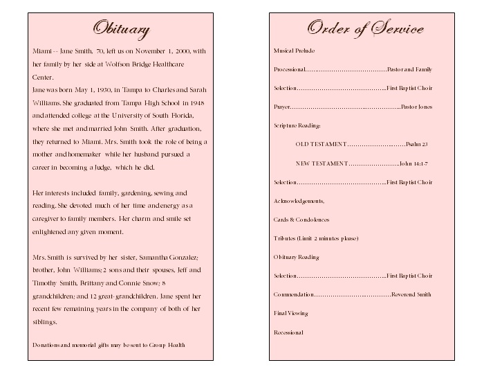 template for writing an obituary - search results for funeral obituary template calendar 2015