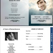 4 page funeral template sky