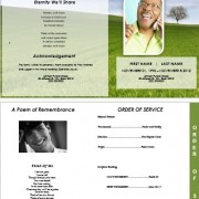 graduated memorial service templates