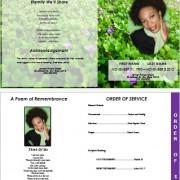beautiful funeral template brochure