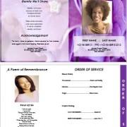 graduted floral funeral program template