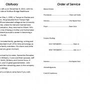 obituary template word