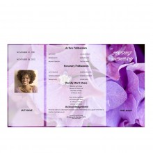 gatefold obituary template