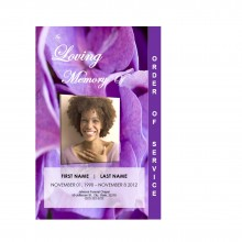 graduated funeral program template