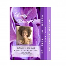 4 Page Graduated Program Template from Funeral Pamphlets