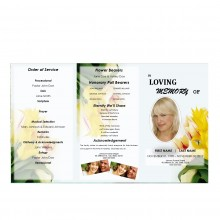 Floral Tri Fold Obituary Program Template from Funeral Pamphlets