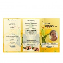 Tri Fold Funeral Program for Mothers