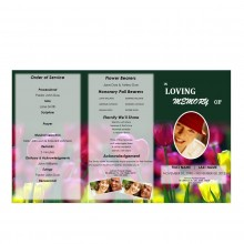 Printable Tri Fold Funeral Programs for Mothers