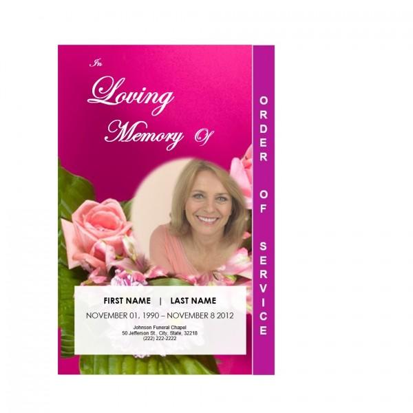 printable step fold floral funeral program
