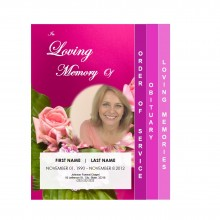 Floral 4 Page Graduated Memorial Brochure from Funeral Pamphlets