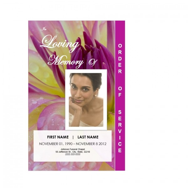 flowers graduated funeral order of service template