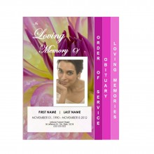 4 Step Graduated Floral Funeral Service Program Template