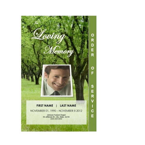 step fold funeral obituary card