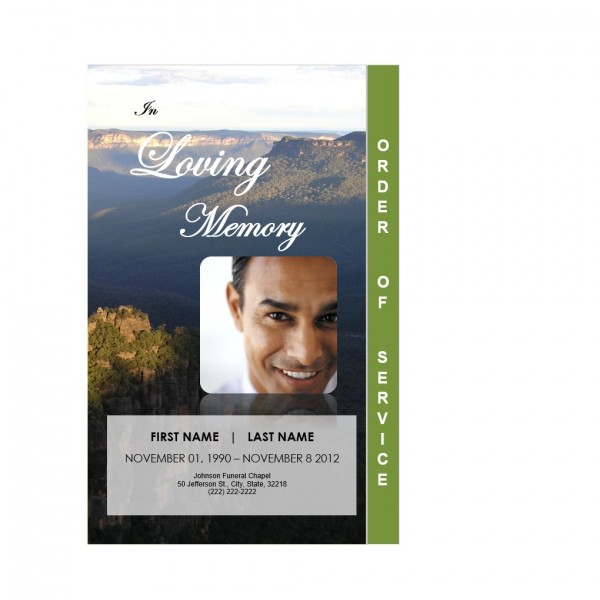 2 page funeral program template