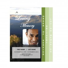 4 page graduated funeral program template