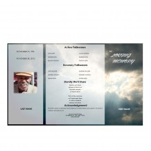 gatefold memorial program