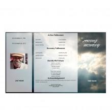 gatefold memorial program
