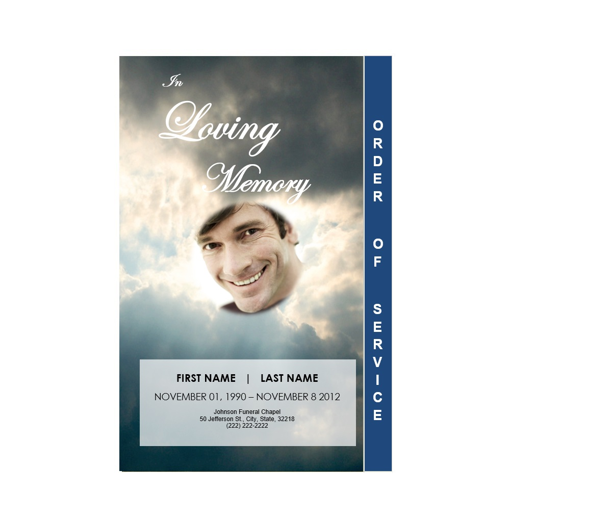 Funeral Program Template Word  Memorial Card Template Word