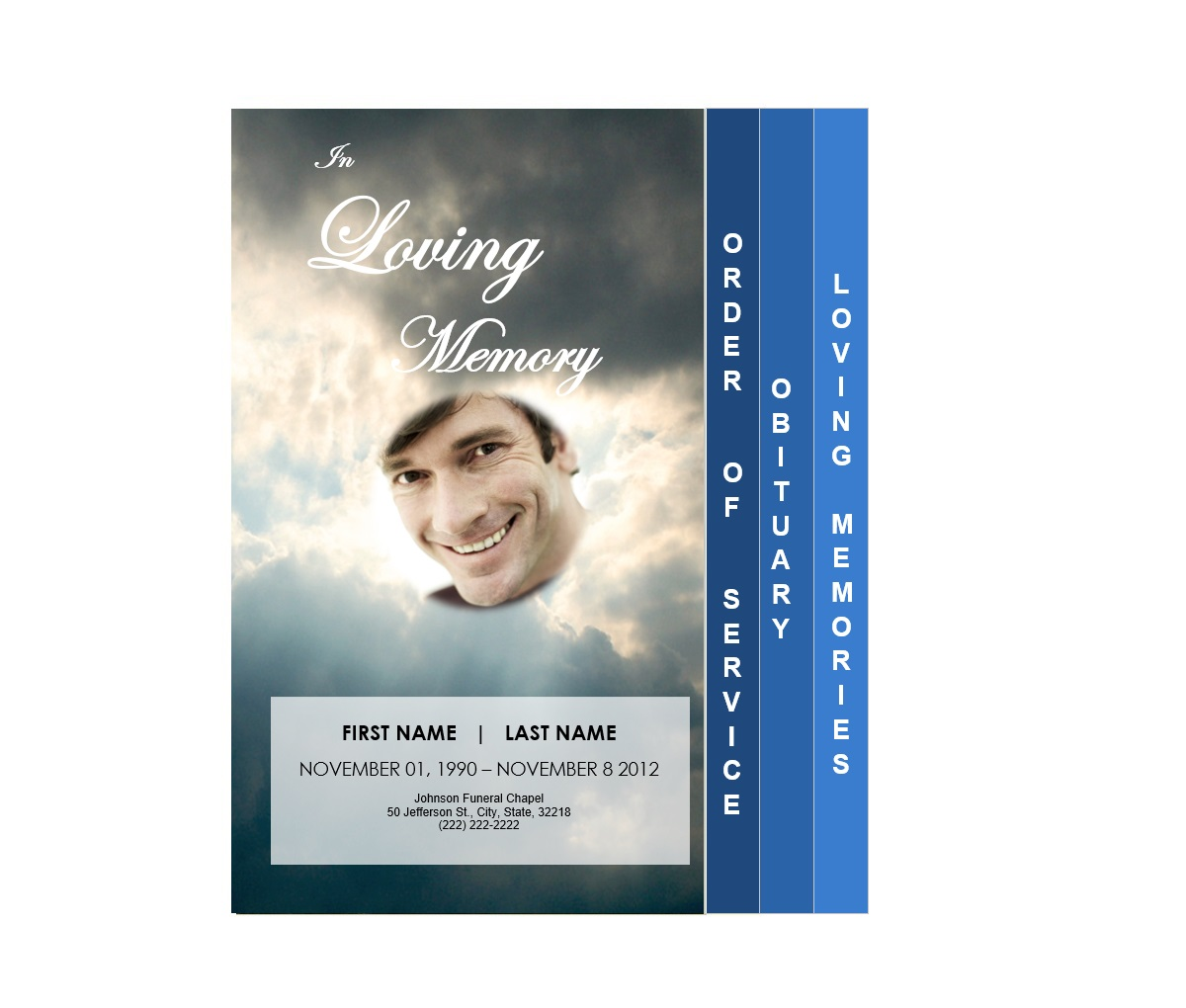 Funeral Pamphlets  Printable Funeral Program Templates