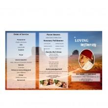 trifold memorial brochure